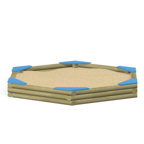 Hexagonal Sandbox with Seats - 3713EP