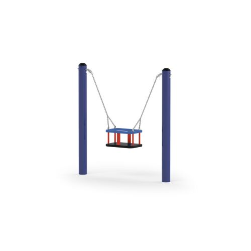 Mini Posts Swing with Basket - 31113