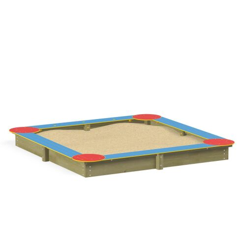 Square Sandbox with HDPE - 3764EP